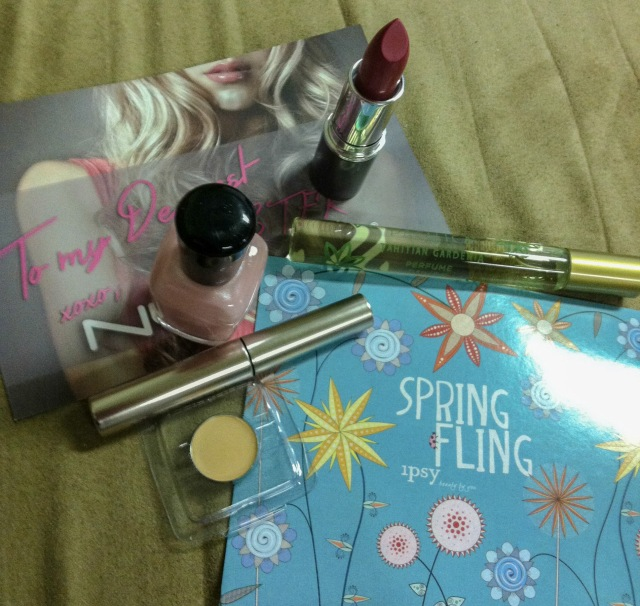 ipsy, glam bag, ipsy glam bag, mirabella, lipstick, pacifica, perfume, anastasia, anastasia beverly hills, eyebrows, brow gel, yaby, concealer, zoya, nail lacquer, cosmetics, make up