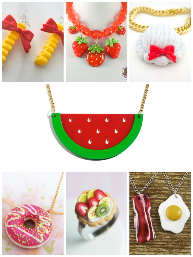 food jewelry no text