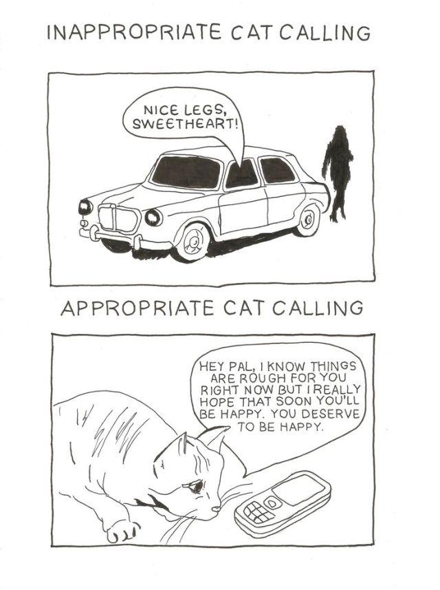 cat-calling, pinterest, illustration, cats, cat drawing